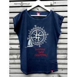 Koszulka damska vintage Podróżuj, Śnij, Odkrywaj