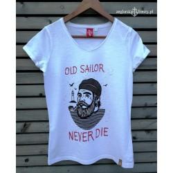 Koszulka damska OLD SAILOR NEVER DIE