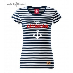 Koszulka damska w paski Pani KAPITANOWA