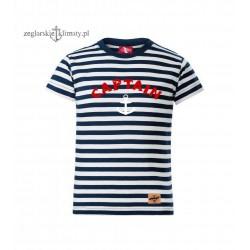 Koszulka dziecięca paski CAPTAIN :-)