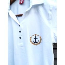 Polo damskie białe Sailing Team