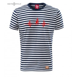 Koszulka unisex w marynarskie paski EKG