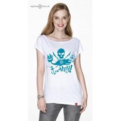 Koszulka damska biała AHOY :-)