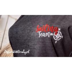 Koszulka damska vintage - haft Sailing Team