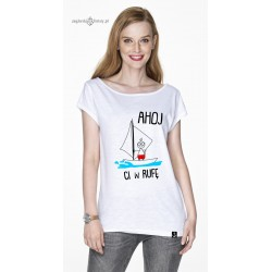 Koszulka damska AHOJ Ci w ...