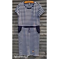 Sukienka marynarskie paski